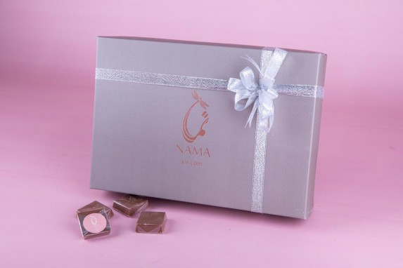 Nama Box contains 1 kilo of mixed Chocolates.